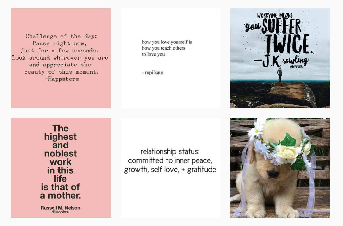 Happster Instagram quotes